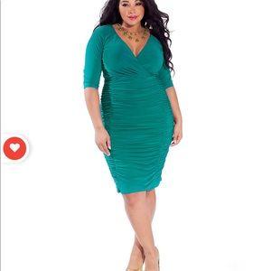 Igigi Ambrosia Turquoise Sexy Dress Plus size sz18